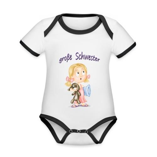große Schwester - Baby Bio-Kurzarm-Kontrastbody