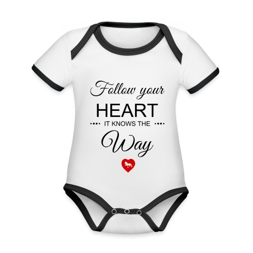 follow your heartbesser - Baby Bio-Kurzarm-Kontrastbody