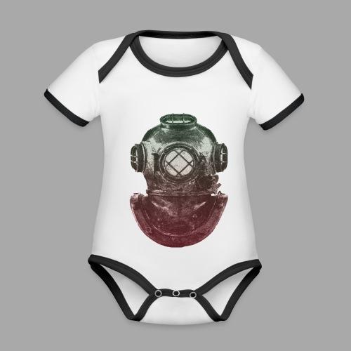 Diver - Vauvan kontrastivärinen, lyhythihainen luomu-body