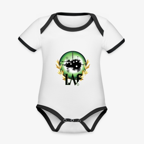 Load Aim Fire Merchandise - Baby contrasterend bio-rompertje met korte mouwen