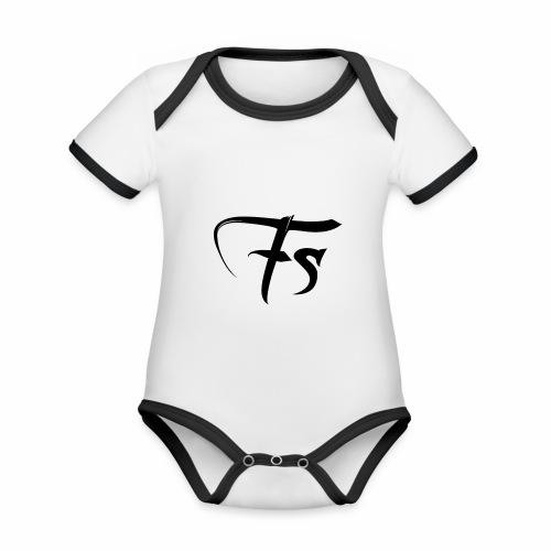 Fs - Body da neonato a manica corta, ecologico e in contrasto cromatico