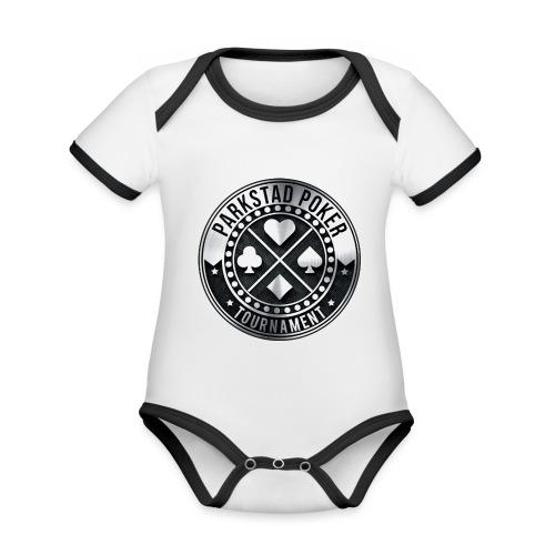 PPT rond - Baby contrasterend bio-rompertje met korte mouwen