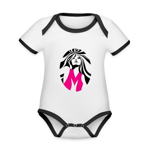 Mélody logo - Body Bébé bio contrasté manches courtes