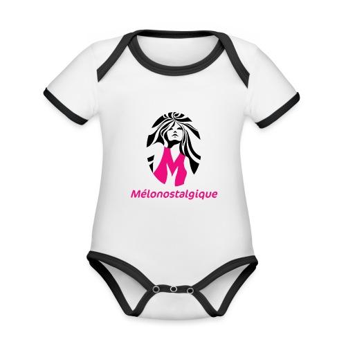 Mélonostalgique - Body Bébé bio contrasté manches courtes