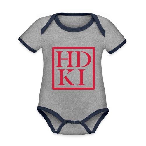 HDKI logo - Organic Baby Contrasting Bodysuit
