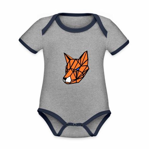 renard geometrique - Body Bébé bio contrasté manches courtes