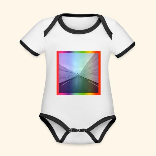 road to nowere - Body da neonato a manica corta, ecologico e in contrasto cromatico
