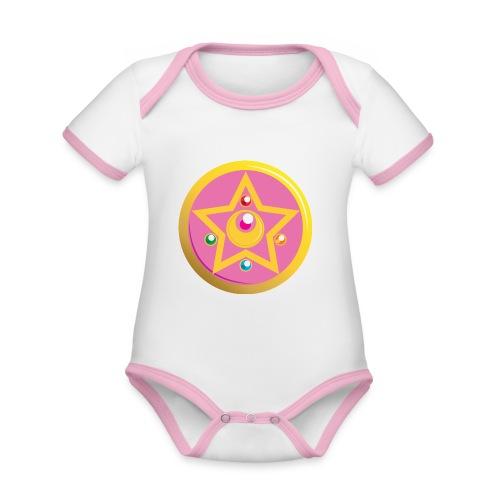 spilla - Body da neonato a manica corta, ecologico e in contrasto cromatico
