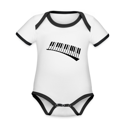 Piano - Body contraste para bebé de tejido orgánico