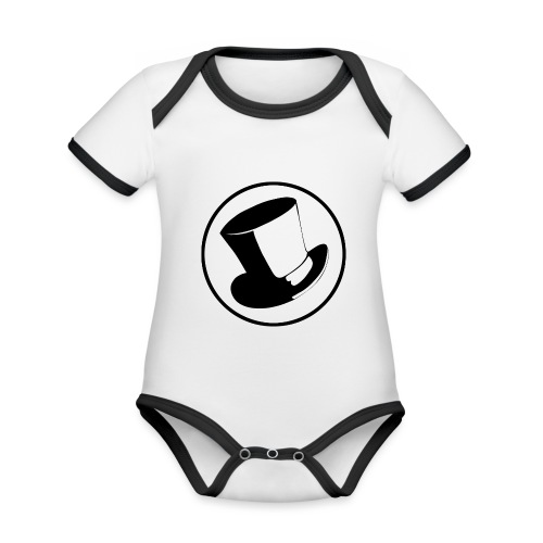 GLASS HAT - Body contraste para bebé de tejido orgánico