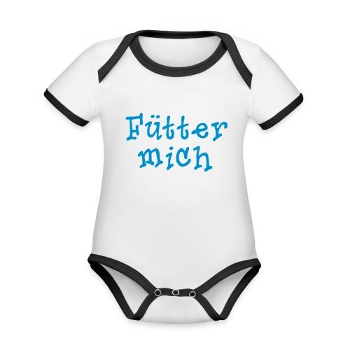 Fütter mich - Baby Bio-Kurzarm-Kontrastbody