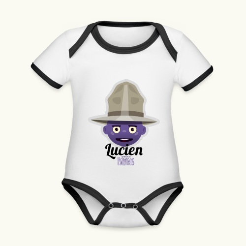 Lucien (Le monde des Pawns) - Body Bébé bio contrasté manches courtes