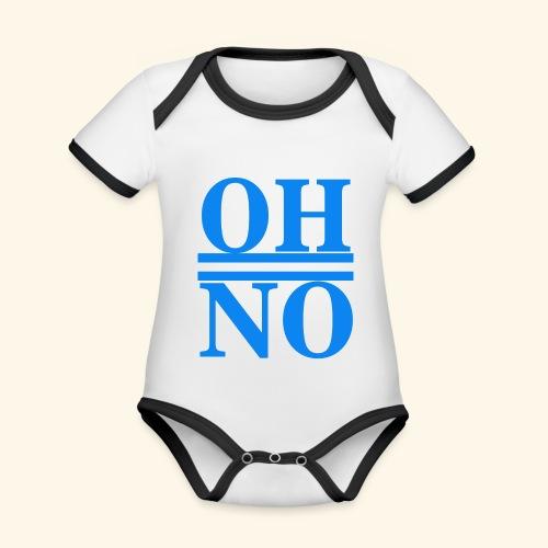 Oh no - Body da neonato a manica corta, ecologico e in contrasto cromatico