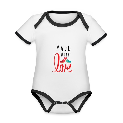 Made with love - Organic Baby Contrasting Bodysuit