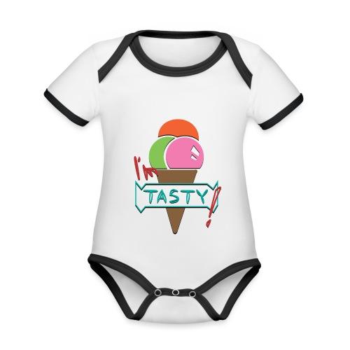 I'm tasty - Ice Cream - Baby Bio-Kurzarm-Kontrastbody