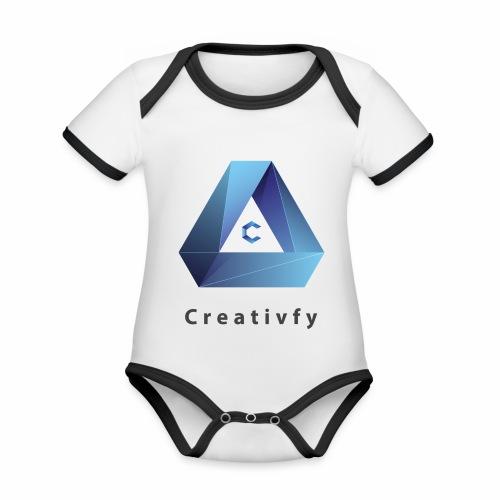 creativfy - Baby Bio-Kurzarm-Kontrastbody