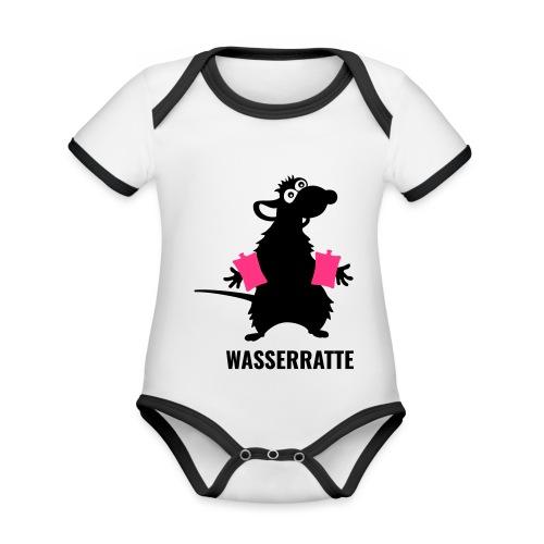 Wasserratte - Baby Bio-Kurzarm-Kontrastbody