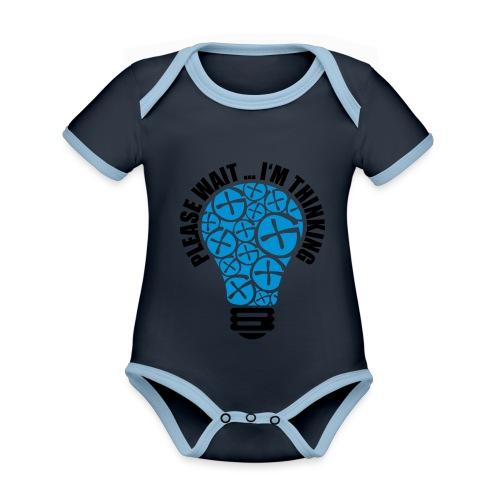 PLEASE WAIT ... I'M THINKING - Baby Bio-Kurzarm-Kontrastbody