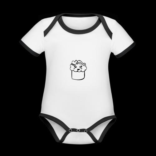 muffin herz - Baby Bio-Kurzarm-Kontrastbody