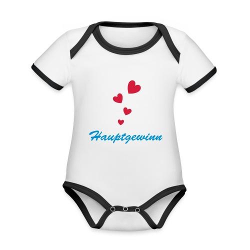 Hauptgewinn - Baby Bio-Kurzarm-Kontrastbody
