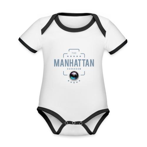 MANHATTAN DARKROOM VINTAGE - Body Bébé bio contrasté manches courtes