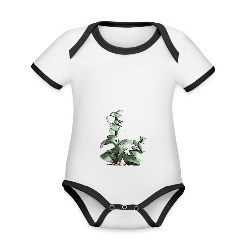 BabyCute 'Cactus Stalk' by Isobel & Kristoff - Organic Baby Contrasting Bodysuit