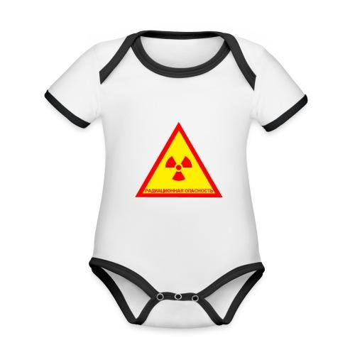 Achtung Radioaktiv Russisch - Baby Bio-Kurzarm-Kontrastbody