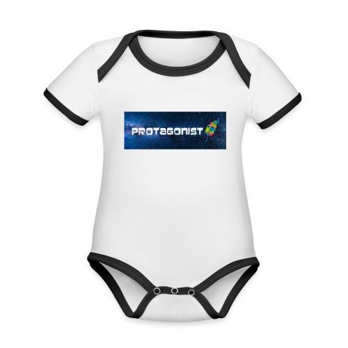 Protagonist by Schreiben-im-Flow.de - Baby Bio-Kurzarm-Kontrastbody