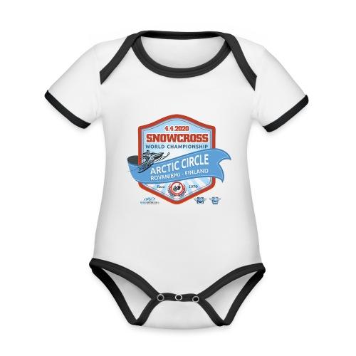 MM Snowcross 2020 virallinen fanituote - Vauvan kontrastivärinen, lyhythihainen luomu-body