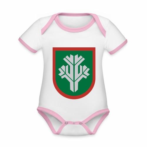 sissi - Vauvan kontrastivärinen, lyhythihainen luomu-body