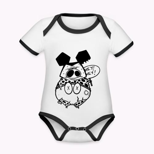 ugly pig - Body da neonato a manica corta, ecologico e in contrasto cromatico