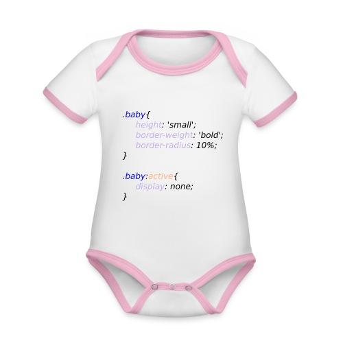Baby with Style - Body contraste para bebé de tejido orgánico