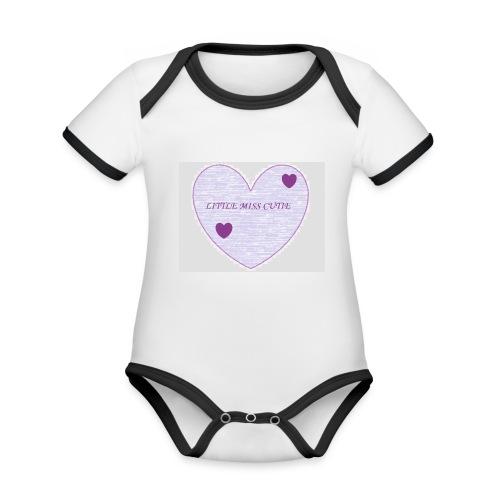 Little_miss_cutie_4 - Baby contrasterend bio-rompertje met korte mouwen