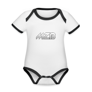 MZB Logo Design For Merch - Organic Baby Contrasting Bodysuit