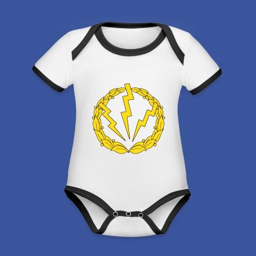 RLC Logo - Ekologisk kontrastfärgad kortärmad babybody