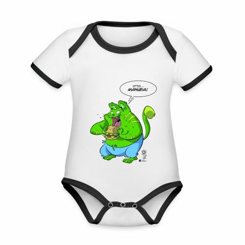 OTTO - Body da neonato a manica corta, ecologico e in contrasto cromatico