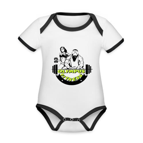 iPiccy Design - Body da neonato a manica corta, ecologico e in contrasto cromatico