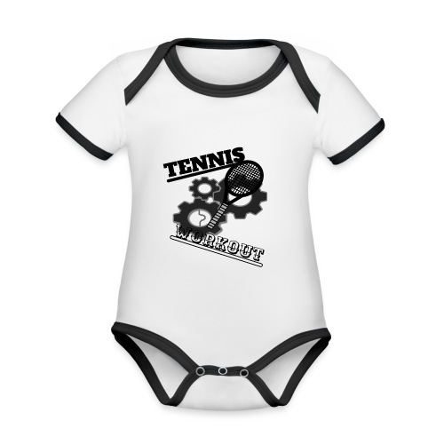 TENNIS WORKOUT - Organic Baby Contrasting Bodysuit