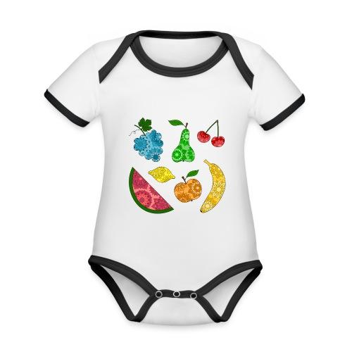 Obstsalat - Baby Bio-Kurzarm-Kontrastbody