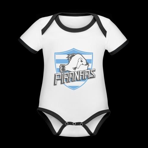 Logo Piranhas v5 - Body Bébé bio contrasté manches courtes