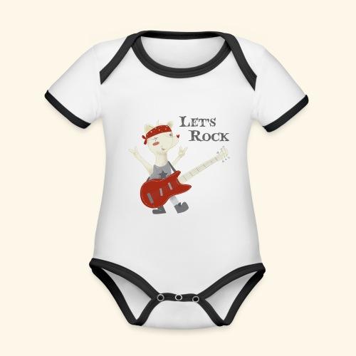 rock lupet - Organic Baby Contrasting Bodysuit