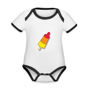 Flierp Rocket Science - Baby contrasterend bio-rompertje met korte mouwen