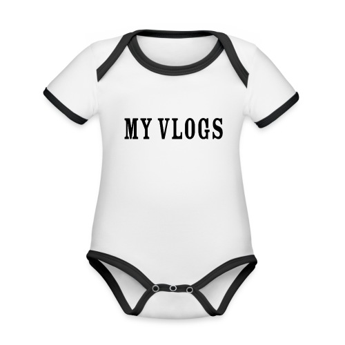 My Vlogs - Organic Baby Contrasting Bodysuit