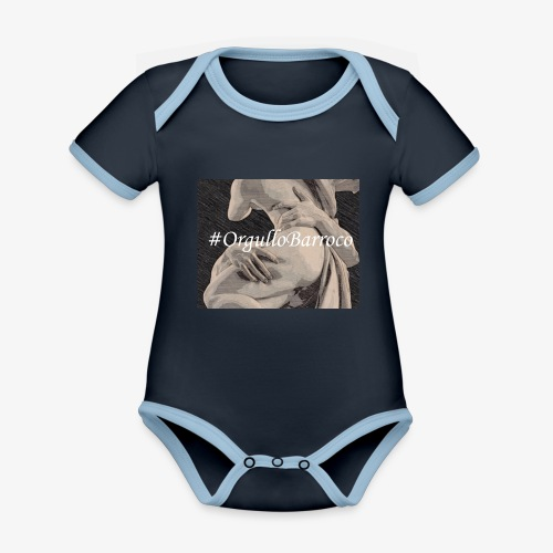 #OrgulloBarroco Proserpina - Body contraste para bebé de tejido orgánico
