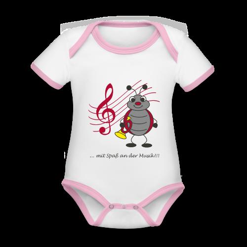 Trompi Spielmannszug Kleinröhrsdorf - Baby Bio-Kurzarm-Kontrastbody