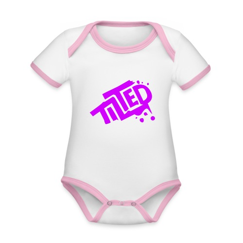 Fortnite Tilted (Pink Logo) - Organic Baby Contrasting Bodysuit
