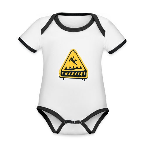 Fortnite Trap Warning - Organic Baby Contrasting Bodysuit