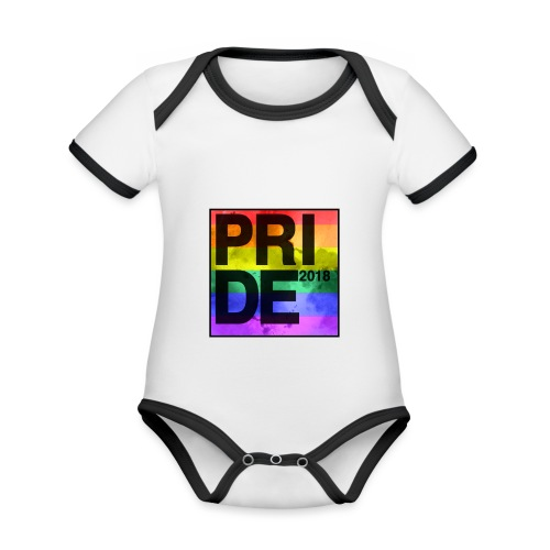 Pride 2018 Rainbow Block - Organic Baby Contrasting Bodysuit