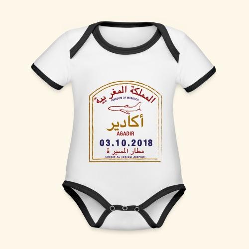 Agadir - Body Bébé bio contrasté manches courtes