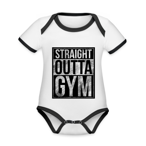 Fitness design - Straight Outta Gym - Organic Baby Contrasting Bodysuit